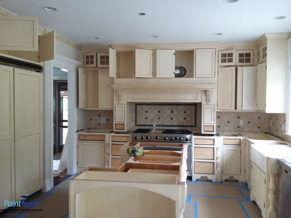 kitchen cabinets spray finishes 2126